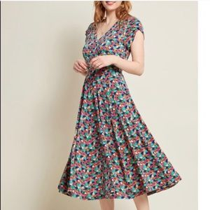 Modcloth Confetti 🎉Print Dress Pinup Novelty